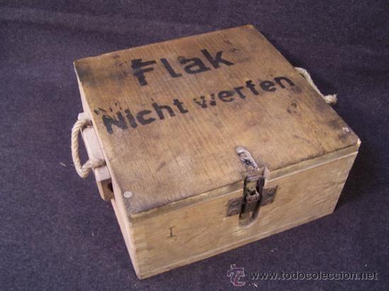 Caja de transporte de Munición Flak Segunda Guerra Mundial en todocoleccion  CAJA PARA EL TRANSPORTE MUNICION FLAK ALEMAN 1940