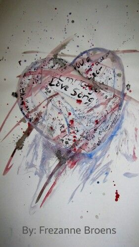 'Heart' by: Frezanne Broens (me) - A mixed media piece of pencil sketch, watercolour paint and shreds of teared paper and glue, i did sometime back. Was really therapeutic, while fun at the same time :)