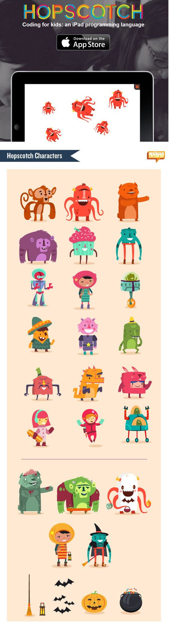 Hopscotch characters | Illustrator: Ilias Sounas