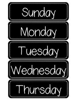 These Days of the Week Cards can be used on a calendar board or as an ordering activity for preschool, kindergarten, or first grade students becoming familiar with the days of the week.  My students love using these with the Dr. Jean cd.    Thanks for looking! Teacher at Heart