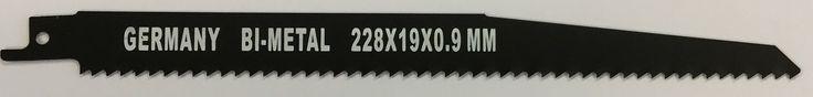 Reserve-Sägeblatt für Stichsägen  Bi-Metall Sägeblatt für zB. Metall - Kunststoff usw., Länge 228mm.  Artikelcode: GACZA219  10 Stück für 0,89 Euro pro Stück 20 Stück für 0,84 Euro pro Stück 40 Stück oder mehr für  0,79 Euro pro Stück