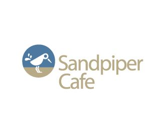 Sandpiper Cafe Logo design - A coffee cup becomes a cute sandpiper bird in this unique logo for a coffee brand, cafe, donut shot, cafeteria, tea company, and more. Price $199.00