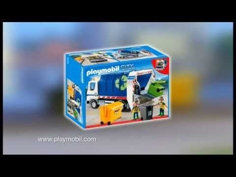 Playmobil - Recycling Truck with Flashing Light - Camión de Reciclaje co...