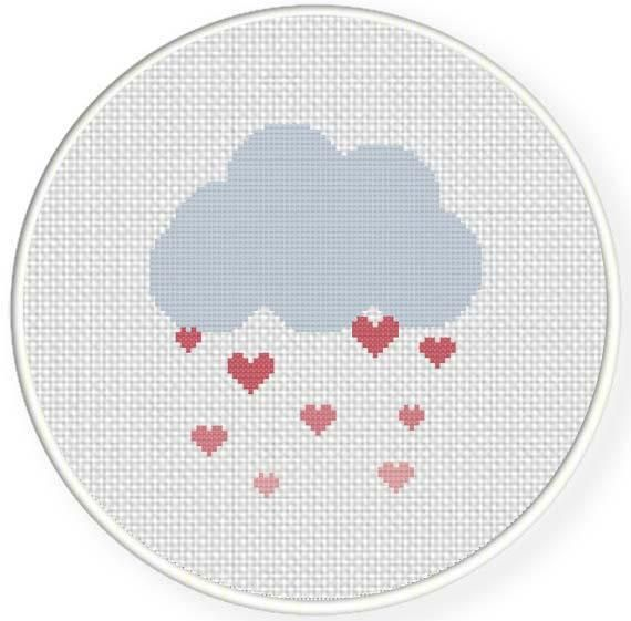 Love Shower Cross Stitch Pattern - via @Craftsy