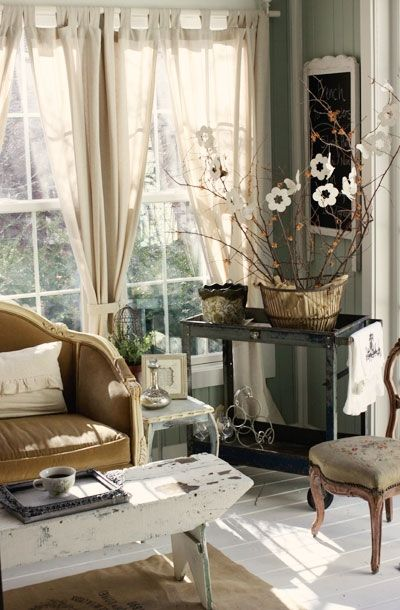 Light and rustic charm home sweet home decor pinterest tea cart shabby chic and everything - Show pics of decorative sitting rooms ...