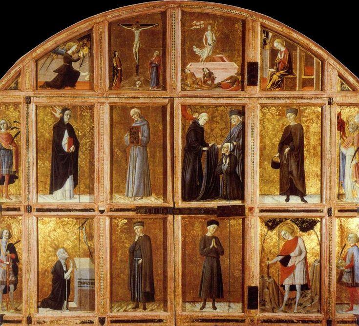 Веккьетта. Дверцы реликвария из госпиталя Санта Мария делла Скала.1445 г. Сиена, Пинакотека.