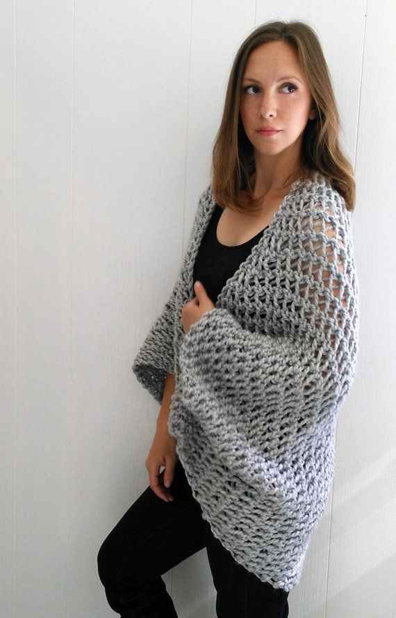 Easy Sweater PATTERN, Shrug Pattern, Beginner Sweater Knit Pattern ...