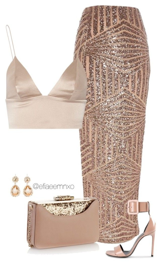 """""""Glitz n Glamour"""" by efiaeemnxo ❤ liked on Polyvore featuring River Island, Yves Saint Laurent, T By Alexander Wang, Accessorize and Miu Miu"""