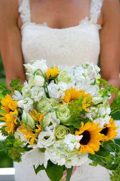 Sunflower-Filled Summer Wedding  Wedding Flowers Photos on WeddingWire