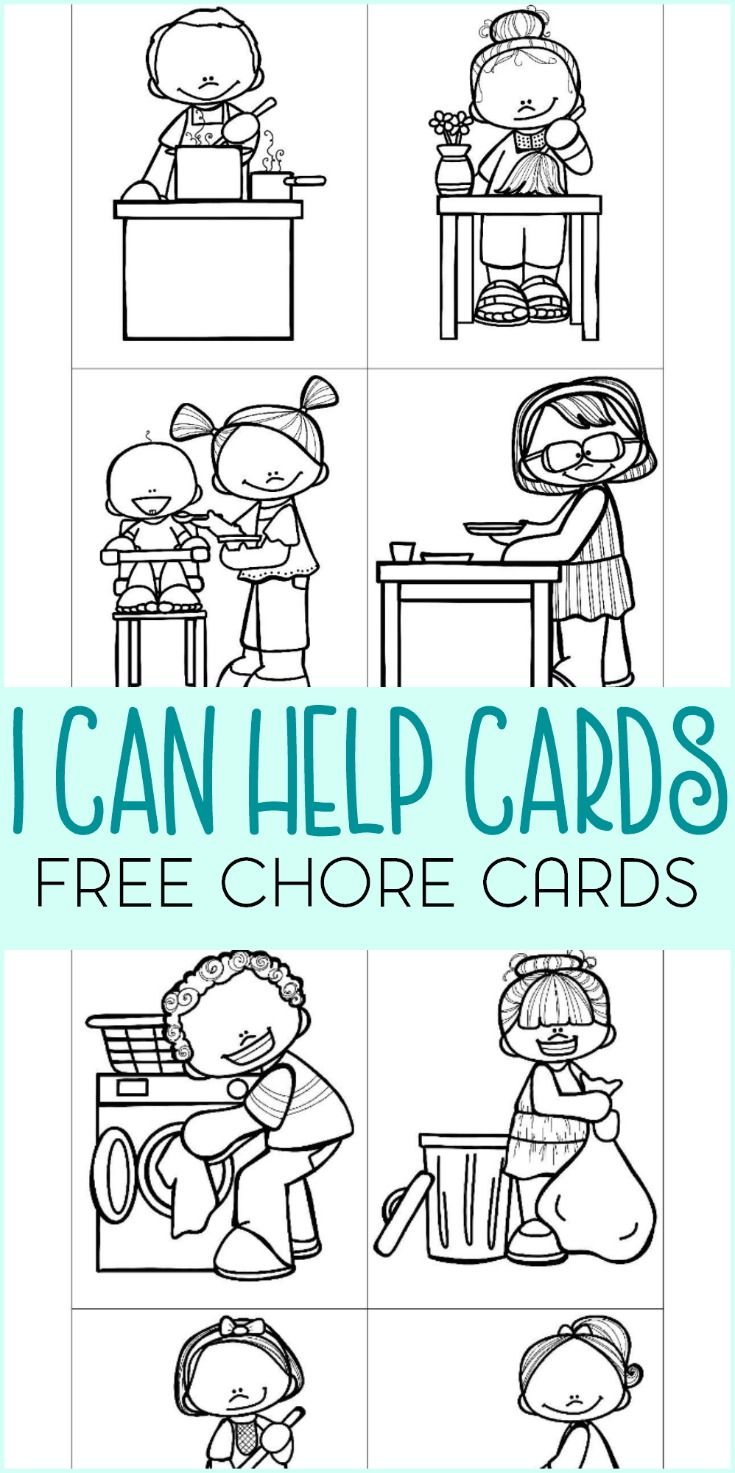 Are your kids old enough to help around the house? Download this free set of I Can Help chore cards.