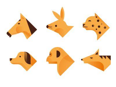 Animales by Romualdo Faura #Animal #Geomatric #Iconic #icon IconDesign #Picto #Minimal