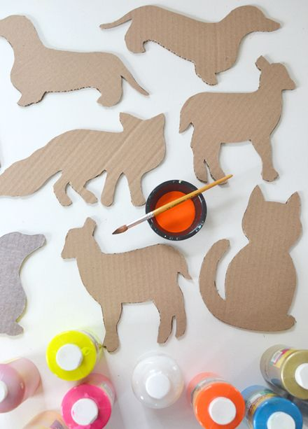 DIY cardboard animals with templates