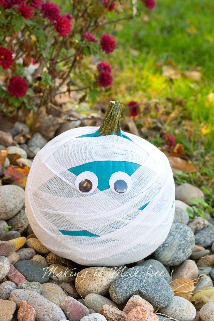 Teal Mummy Pumpkin by Making it Milk-free | Teal Pumpkin Project…
