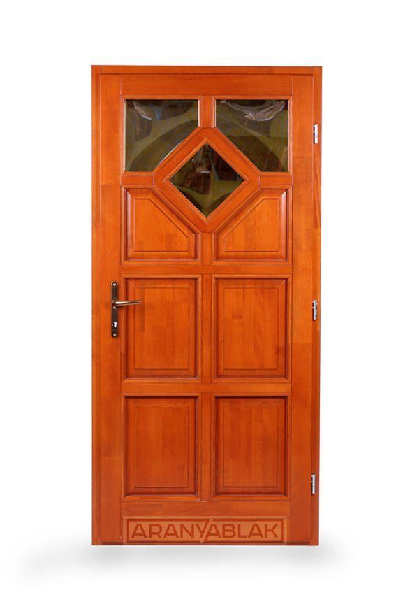 Zafir, 3 üveges.  Fa bejárati ajtó.  Biztonságot hoz minden otthonba. Igen tartós, hosszú távú megoldás, mindezt magas minőségen, és kedvező áron. Egyedi méretben is.
