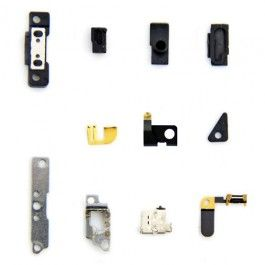 iPhone 4S Original Small Parts ( 13 Pieces )  Set Contains: - Gold Grounding Clips - Other Grounding Clips - Retention Clips - WIFI Grounding Clip - Internal Covers