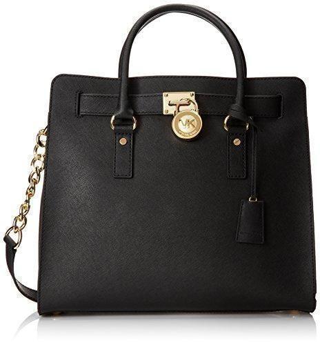 Oferta: 314€ Dto: -4%. Comprar Ofertas de Michael Kors Hamilton Large Saffiano Leather Tote - Bolso de asas de Piel para mujer Negro negro 36x32x15 cm (B x H x T) barato. ¡Mira las ofertas!