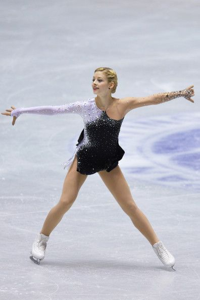Gracie Gold of the United States short program  2013/2014 NHK Trophy  -Black Figure Skating / Ice Skating dress inspiration for Sk8 Gr8 Designs