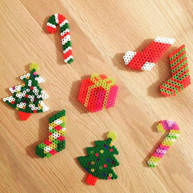 Christmas perler beads by  studio.f_by.natsuaya