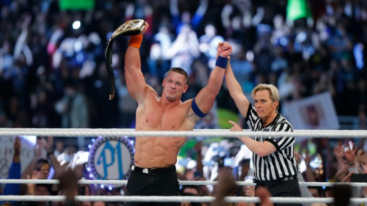 Cena equalled Ric Flair's record 16 world championship wins last night at the Royal Rumble.
