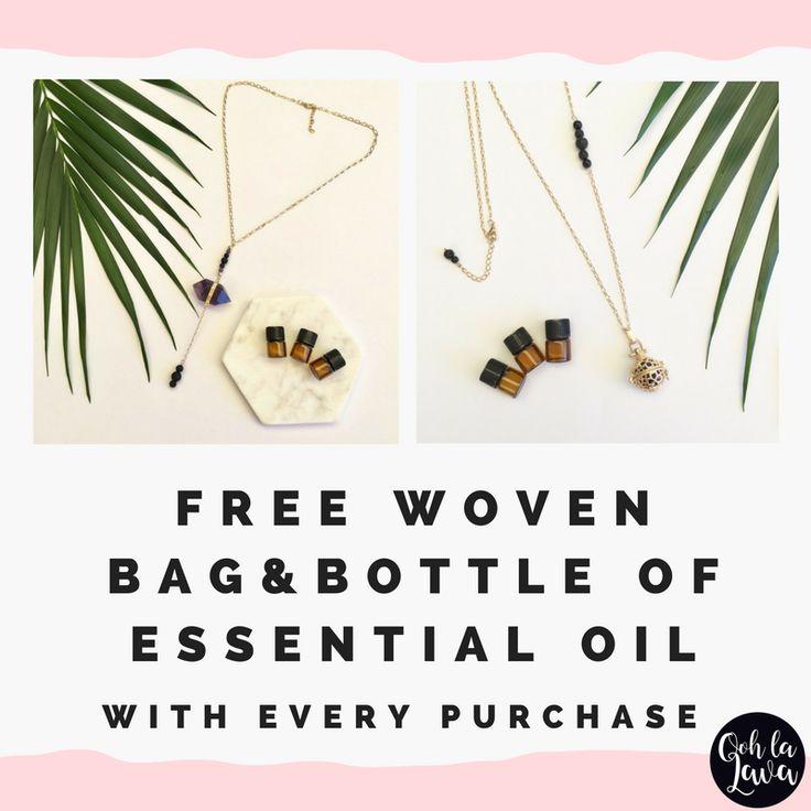 Essential Oil Jewellery Australia | Aromatherapy Necklace, add essential oil to lava stone. #lavafashion