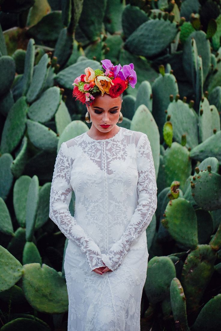 """We'll never tire of a Frida Kahlo inspired shoot and these striking scenes by Perth stylist Peak Lane are ticking all our Mexican-loving boxes. Taking cues from the giant prickly pears and abandoned caryard, we're loving the time-warped pretty meets gritty vibe. """"The vibrancy of Mexican culture is so inspiring for people who want to …"""