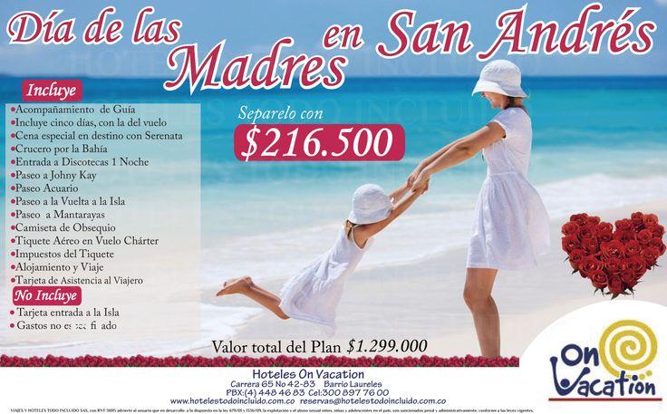 Celebra el día de las Madres en San Andrés