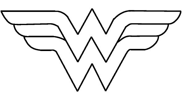 superhero symbols coloring pages - fee wonder woman logo printable wonder women graduates