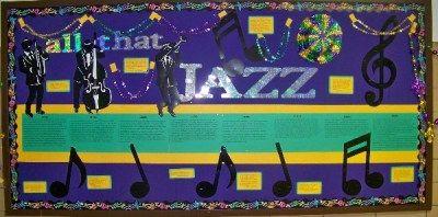 Awesome jazz bulletin board