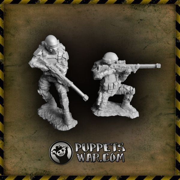 One shot, one kill. https://puppetswar.eu/product.php?id_product=343  #sniper #team #soldier #troopers #scifi #guard #puppetswar #miniatures #figures #hobby #wargame