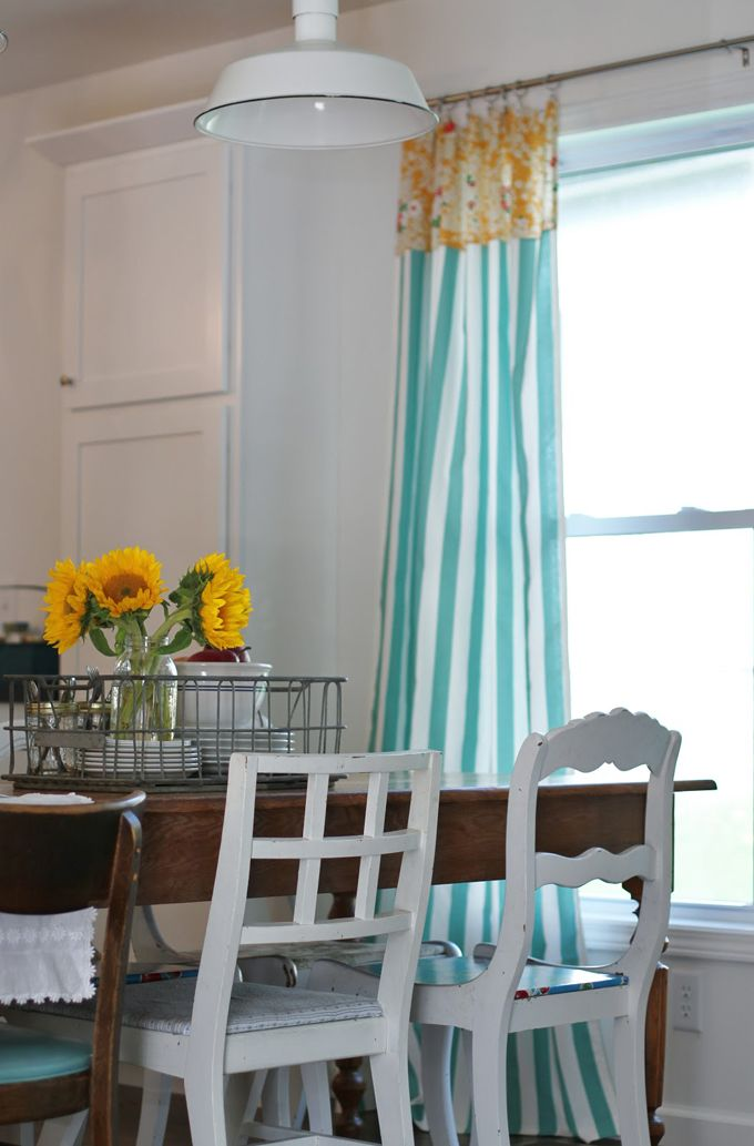House Of Turquoise Flower Patch Farmgirl Curtains Mixed Up Chairs LOVE