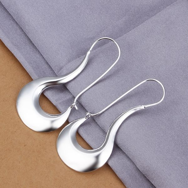 Moon Style shining 925 solid siver earings e355 For Christmas gift Fashion Jewelry $5.40