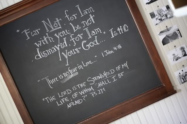 Chalkboards and Bible Verses