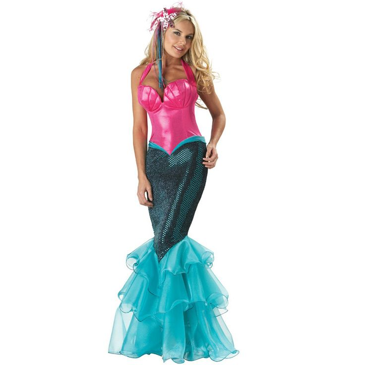 Cheap dress short, Buy Quality costume made directly from China dress bohemian Suppliers:  PRODUCT DESCRIPTION   Everyone will be fishing for a piece of you in this elite mermaid costume dress! The sexy halter-
