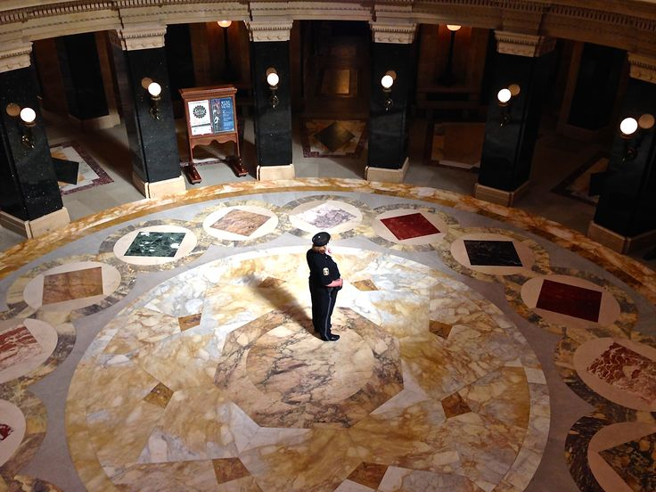 This is the rotunda at the Wisconsin Capitol building.  On May 29, 1848, Wisconsin became a state.