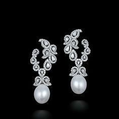 Diamond & South Sea Pearl Earrings by Farah Khan