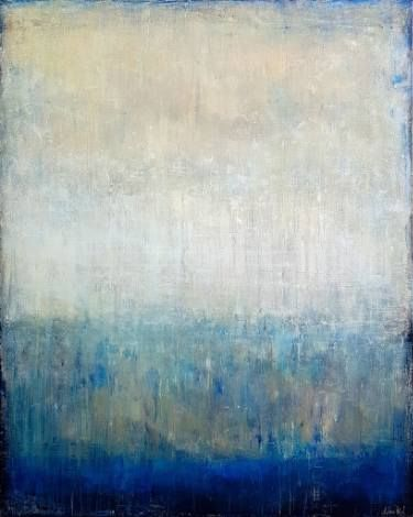 'Regal' by Artem Bryl. #modernart #aquamarine #royalblue #blues #blue #artembrylart