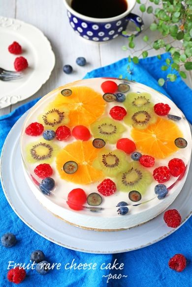 「キラキラフルーツレアチーズケーキ」ぱお   お菓子・パンのレシピや作り方【corecle*コレクル】