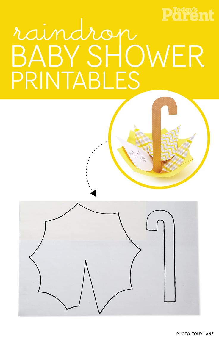 Download and print out these printables to create your baby shower umbrella-basket craft!