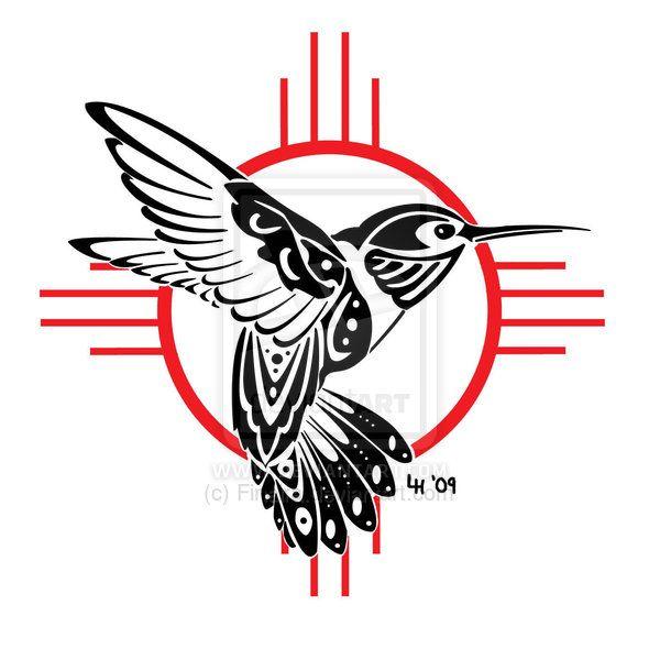 native american stencils   Variant Hummingbird Tattoo Stencil
