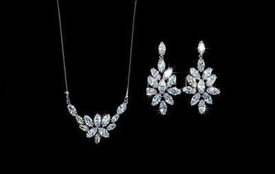 biżuteria ślubna komplet Panna Młoda AAA+