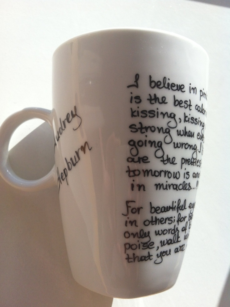 Mug with Audrey Hepburn quotes by litsakiv on Etsy, $16.00