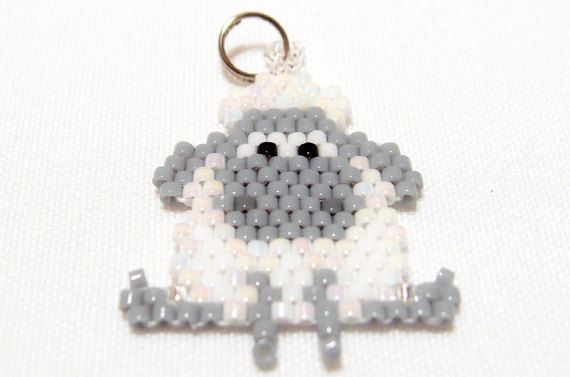 Year of the Sheep Charm, Cute Animal, Bead Weaving, 2015 Chinese Zodiac