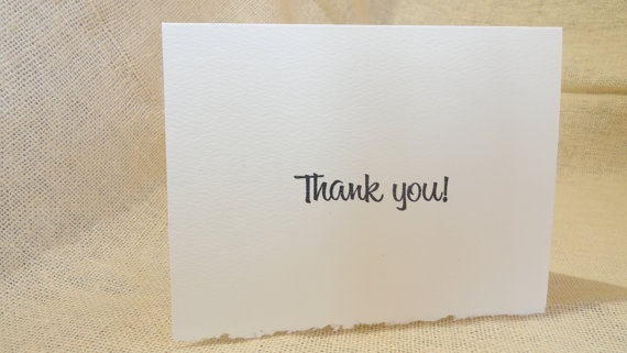 Thank You Notes  Deckle Edge Hand crafted by PremiumGreetingCards.etsy.com,