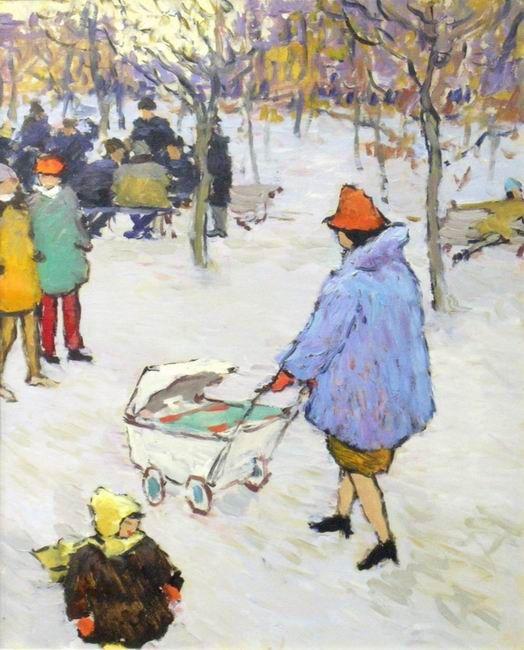 Волков Юрий.Зимняя прогулка. 1967