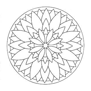 La gran flor, ejemplo de Mandala pintado