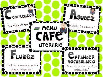 CAFE menu bilingue - en espanol / spanish CAFE menu