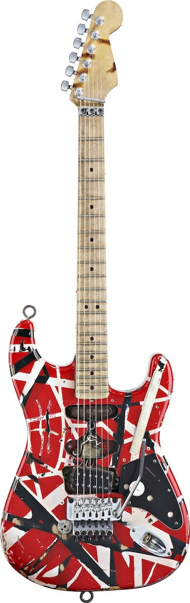 """The Legendary Frankenstrat of Edward Lodewijk """"Eddie"""" Van Halen (born January 26, 1955) is a Dutch-born American guitarist, keyboardist, songwriter and producer. He is best known as the lead guitarist and co-founder of the eponymous hard rock band Van Halen. Allmusic described him as """"Second to only Jimi Hendrix... undoubtedly one of the most influential, original, and talented rock guitarists of the 20th century."""" He is ranked 8th in Rolling Stone's 2011 list of the Top 100 guitarists."""