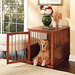LOVE this pet crate!: Dogs Crates, Pet Crates, Cute Ideas, Pets, Dog Crates, Crate End Tables, Crates End Tables, Great Ideas, Table Dogs
