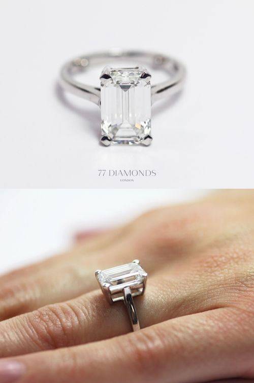 A classic engagement ring set with a gigantic 4.12ct emerald cut diamond. #speechless #jewellery