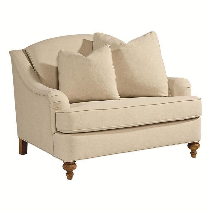 Nebraska Furniture Mart Mattress #31: Adore Chair And A Half In Linen | Nebraska Furniture Mart
